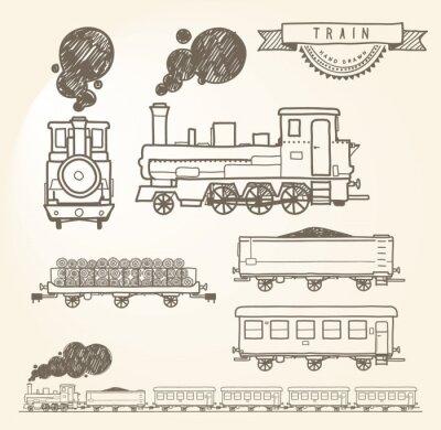 Fototapeta Doodle pociągu. Eps8.