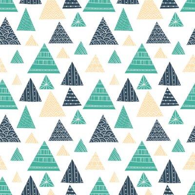 Fototapeta Doodle Triangle Seamless Pattern
