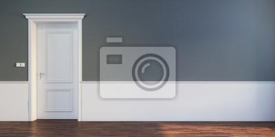 Fototapeta Door in empty interior scene