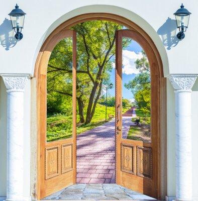 Fototapeta Drabina Drzwi Otwarte