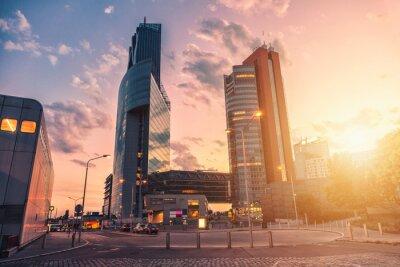 Fototapeta Drapacze chmur i nowoczesna architektura w Wiedniu Austria