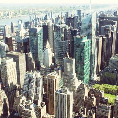 Fototapeta Drapacze chmur w Nowym Jorku od dołu