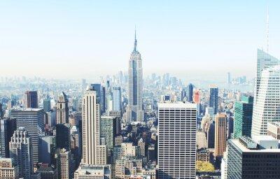 Fototapeta Drapacze chmur w Nowym Jorku z góry