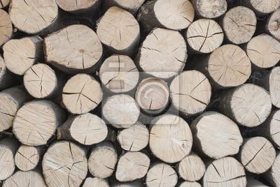 Fototapeta Drewno Opałowe Jest Ułożone W Stos Drewna Dekoracyjne ściany