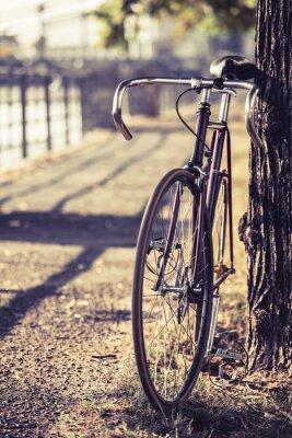 Fototapeta Droga stała biegów rower rower