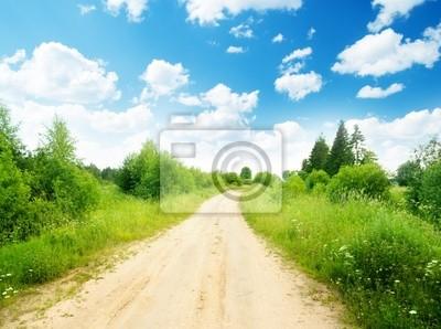 Droga ziemia i słoneczny dzień
