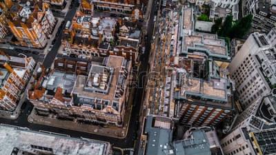 Fototapeta Drone Zdjęcie Londynu, Mayfair.