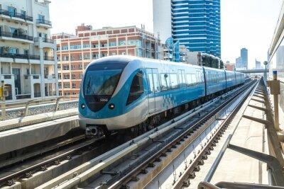 Fototapeta Dubai Metro kolejowy