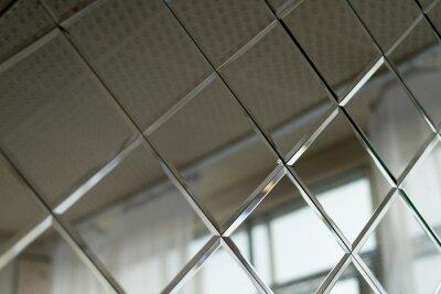 Fototapeta Duże Płytki Lustrzane Stosowane Do Dekoracji ścian W łazience