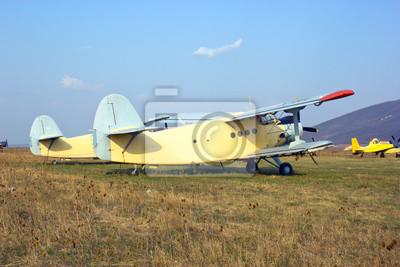 Fototapeta Duży samolot (dwupłatowiec)