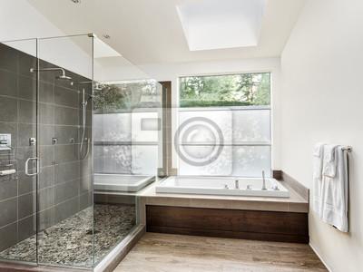 Fototapeta Duży Umeblowany łazienka W Luksusowych Domu Z Posadzce Fantazyjnych