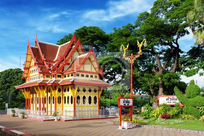 Fototapeta Dworzec kolejowy w mieście Hua Hin w Tajlandii.