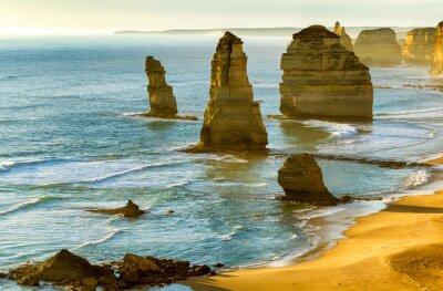 Fototapeta Dwunastu Apostołów o zachodzie słońca wzdłuż Great Ocean Road, Victoria -