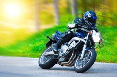 Fototapeta Dynamiczne wyścigi motocykl