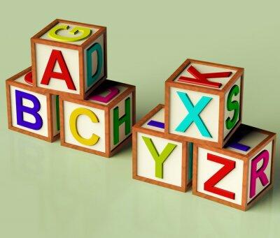 Fototapeta Dzieci bloków z ABC i xyx jako symbol Edukacji i learnin
