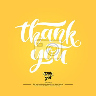 Dziękuję Ci Nowoczesne Ręcznie Narysowane Litery Frazy Odręczne