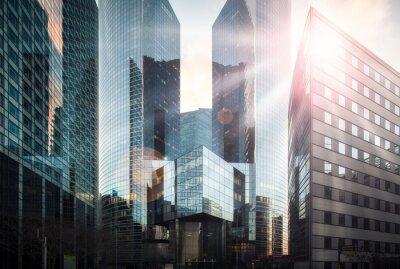 Fototapeta Dzielnica finansowa w słońcu