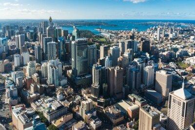 Fototapeta dzielnicy biznesowej Sydney Central z powietrza