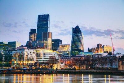 Fototapeta Dzielnicy finansowej City of London