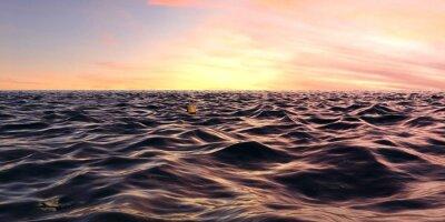 Fototapeta Early Sunrise Panorama Przez Ocean Waves