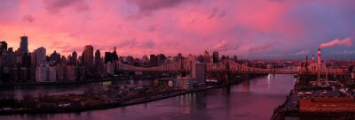 Fototapeta East River na zachodzie słońca