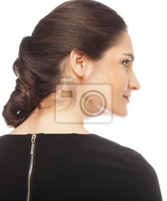 Fototapeta Eautiful Twarz Kobiety W Profilu Z Makijażu I Fryzury