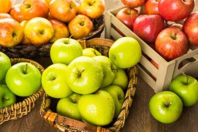 Fototapeta Ekologicznych jabłek