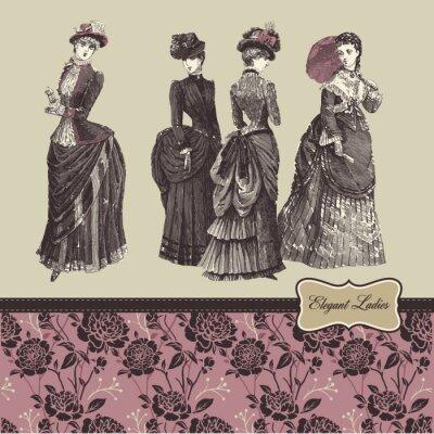 Elegancki vintage ladies