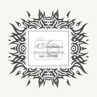 Fototapeta Eleganckie tło z tatuażem i miejsce na tekst. Vector illust