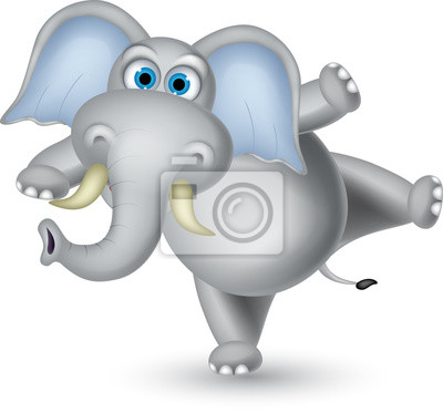 Fototapeta Elephant cartoon taniec