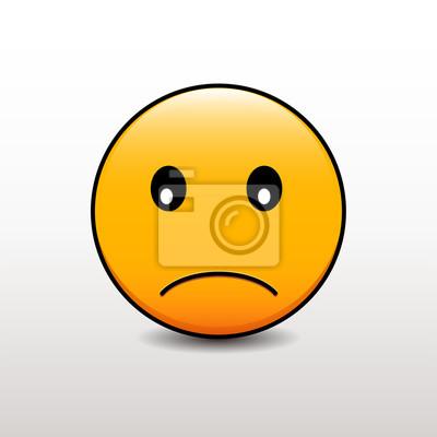 Emotikon z smutną miną. wektor emoji smiley Fototapeta • Fototapety sieć  społeczna, skruszony, emotikony | myloview.pl
