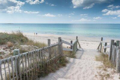 Fototapeta Escalier d'accès à la plage de Kerjouanno, gmina d'Arzon