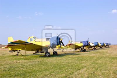 Fototapeta Eskadra samolotów rolniczych i gaszenia