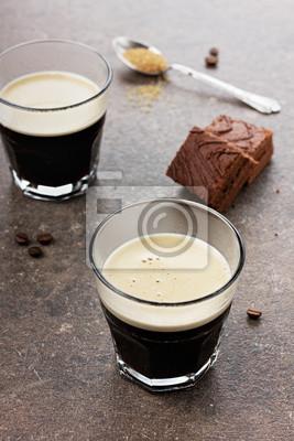 Espresso z ciasto czekoladowe