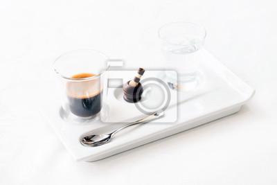 Fototapeta espresso z czekoladą słodkie