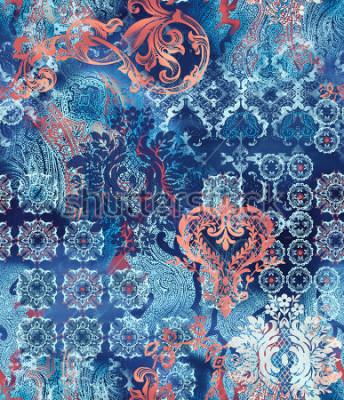 Fototapeta etniczne motywy geometryczne na abstrakcyjnym tle