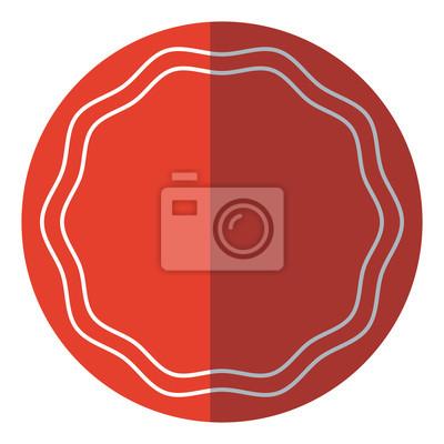 949191a4203b92 Fototapeta Etykieta naklejek dekoracji ramki puste czerwone koła ilustracji  wektorowych
