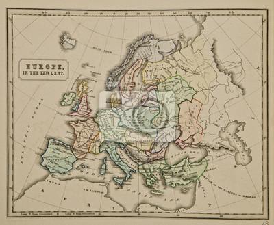 Europa Ix Wiek Starozytna Mapa Swiata Starozytna Mapa Swiata