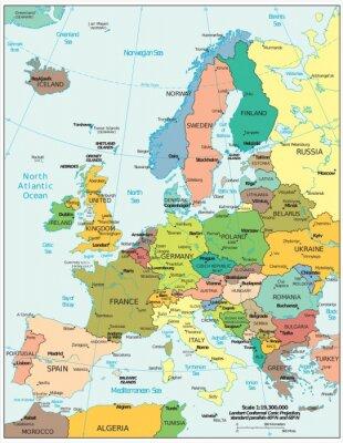Fototapeta Europa podziały polityczne