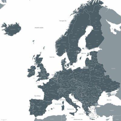 Fototapeta Europe map wektorowych