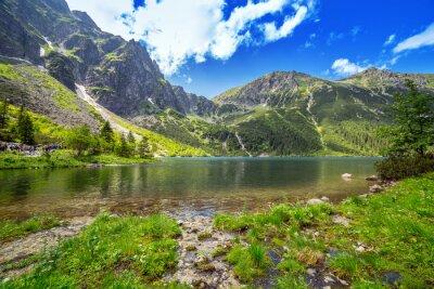 Fototapeta Eye of the Sea lake in Tatra mountains, Poland
