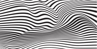 Fototapeta Fala abstrakcyjna mobious optyczne tła wektor wibrujący