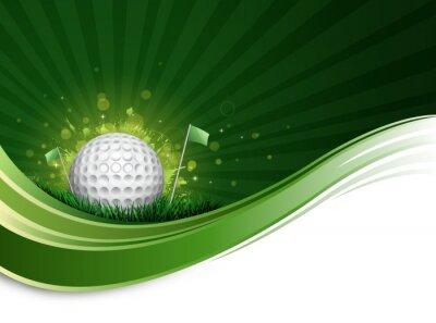 Fototapeta Fala piłki golfowej