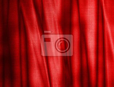 Fototapeta fałdy na czerwonym płótnie