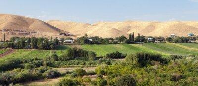 Fototapeta Fergana or Fargona valley in Kyrgyzstan