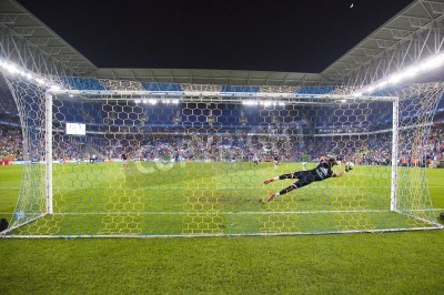 Fototapeta Fernando Pacheco of RM in action at the Spanish Cup match between UE Cornella and Real Madrid, final score 1 - 4, on October 29, 2014, in Cornella, Barcelona, Spain