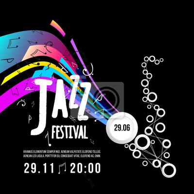 Fototapeta Festiwal Jazz Plakat Szablon Muzyka Jazzowa Saksofon Międzynarodowy