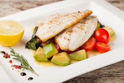 Fototapeta Filet z ryby z grilla