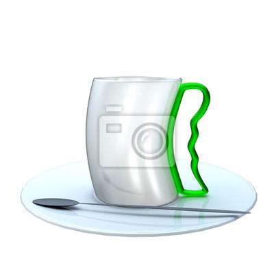 Fototapeta Filiżanka kawy na białym tle