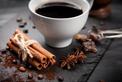 Fototapeta Filiżanka kawy na kamiennej płycie